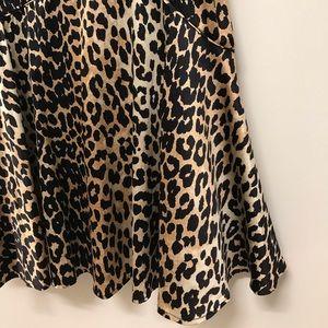 Silk Ganni Leopard Midi Slip Dress